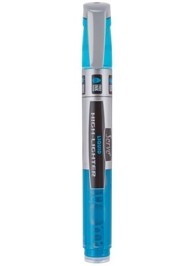 Serve Lıkıt Fosforlu Kalem Mavı Renkli